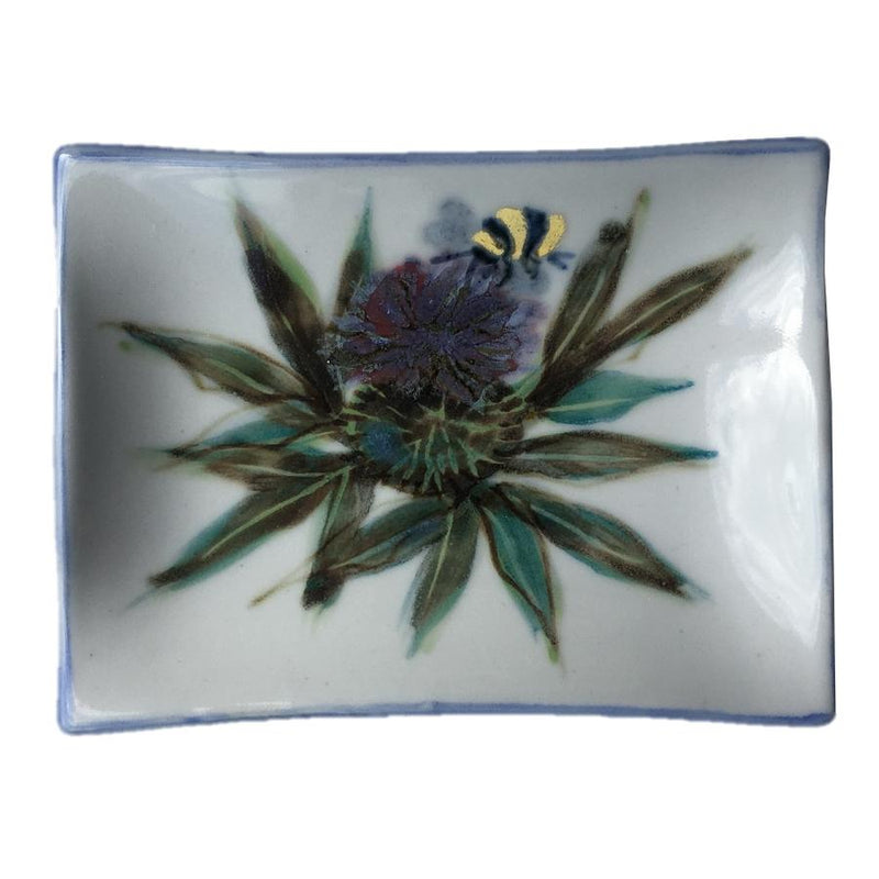 Highland Stoneware Thistle Extra-small Rectangle Plate