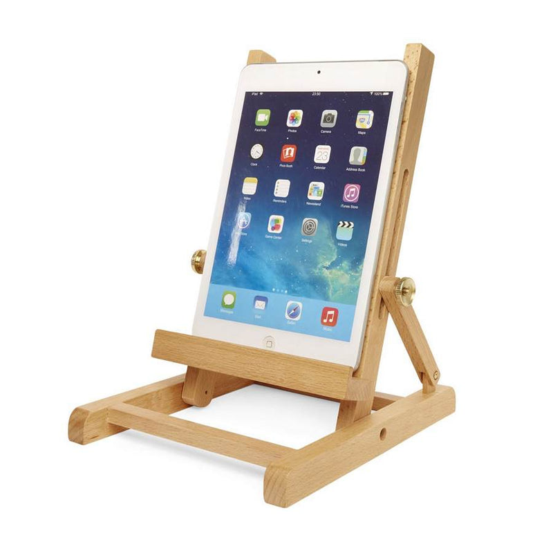 Easel Book & Tablet Stand in use