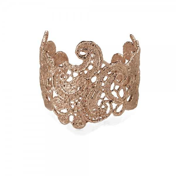 I Love A Lassie Antique Lace Gold Cuff