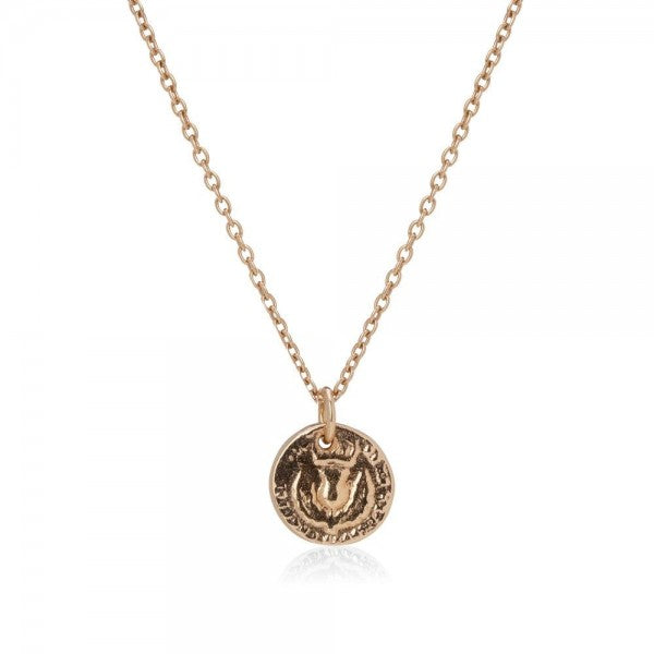 I Love A Lassie Bawbee Coin Gold Necklace