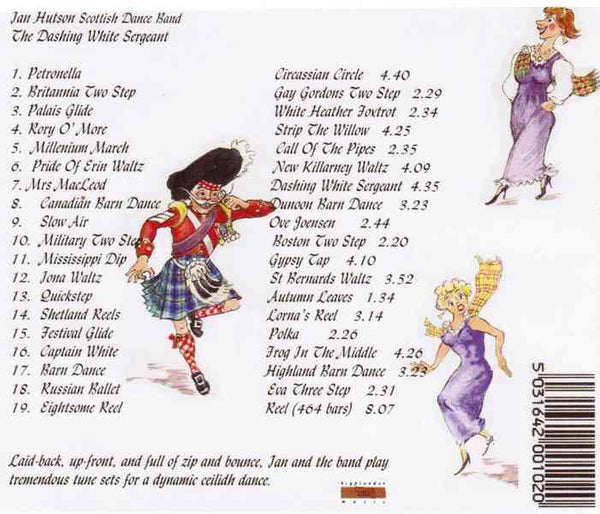 Ian Hutson Scottish Dance Band Dashing White Sergeant HRMCD101 CD track list