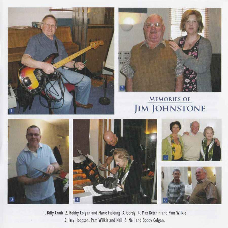 Ian Hutson & His Band - Memories Of Jim Johnstone CD booklet musician pictures
