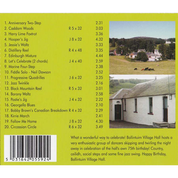 Ian Hutson & His Scottish Dance Band - Let's Celebrate CD inlay track list