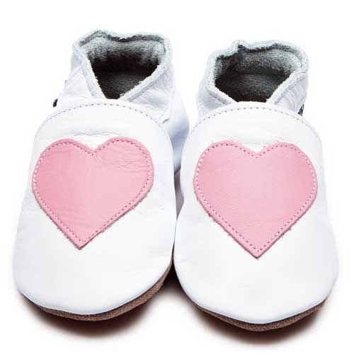 Inch Blue Baby Booties Love White Baby Pink
