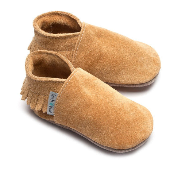 Inch Blue Baby Booties Tan Moccasin side 2