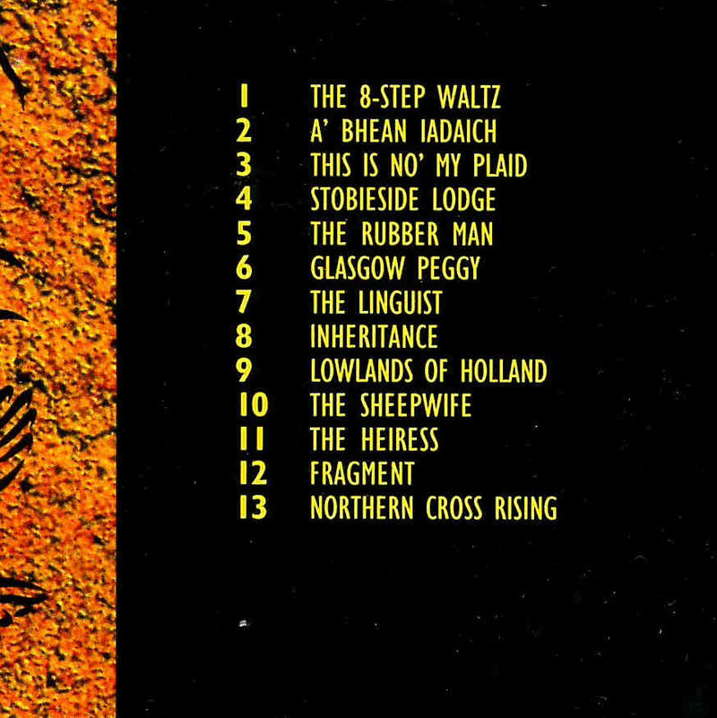 Iron Horse Five Hands High CD back tracklist