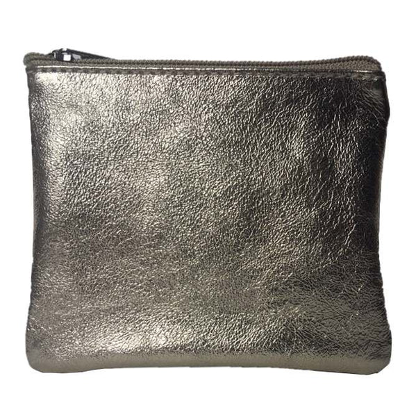 Italian Leather Coin Purse Gold front