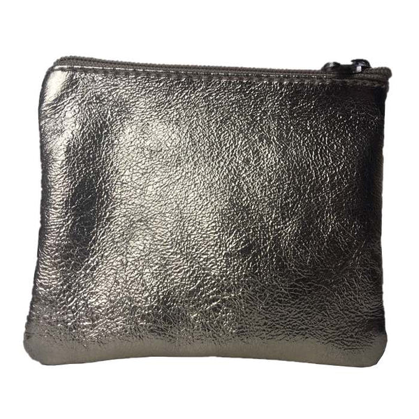 Italian Leather Coin Purse Gold back