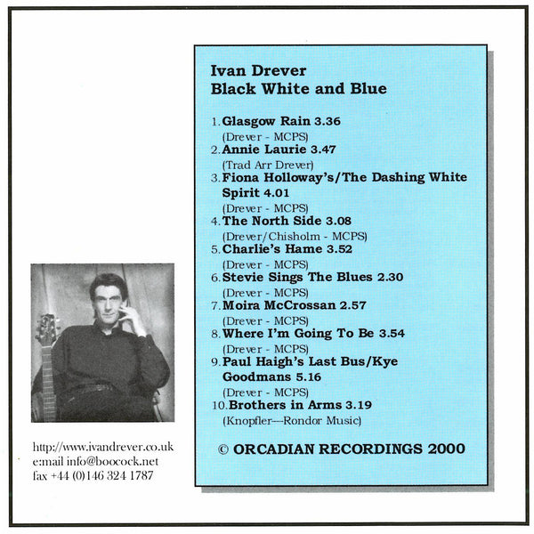 Ivan Drever - Black White And Blue CD back