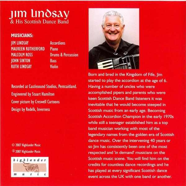 Jim Lindsay & His Scottish Dance Band - Scottish Christmas Dance Party CD back