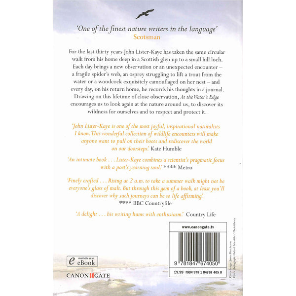 John Lister-Kaye - At The Water's Edge back cover