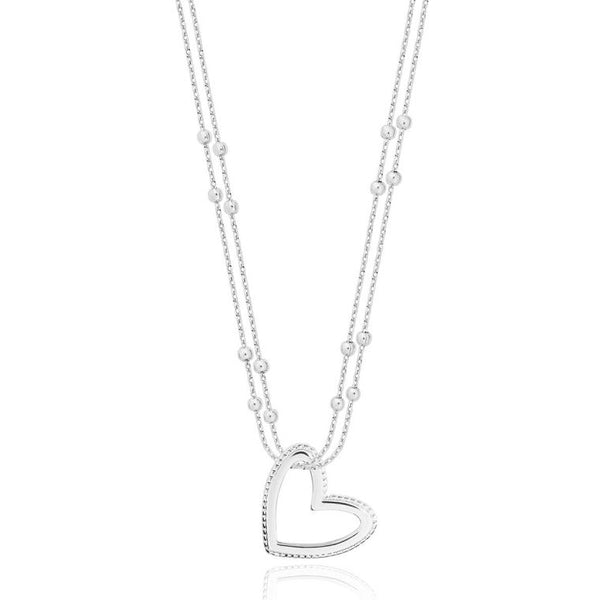 Joma Jewellery Aurora Heart Necklace 3600 detail