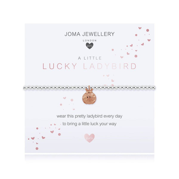 Joma Jewellery Childrens Bracelet A Little Lucky Ladybird C487