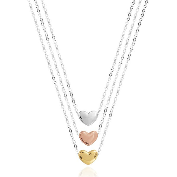 Joma Jewellery Florence Heart Necklace 3622 detail