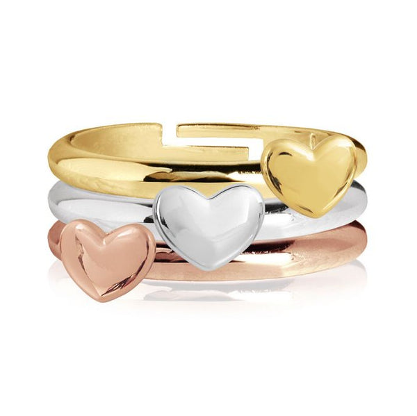 Joma Jewellery Florence Heart Rings Set 3625 main
