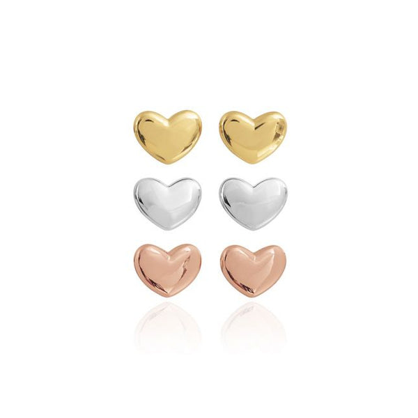 Joma Jewellery Florence Set Of Three Heart Stud Earrings 3624 main