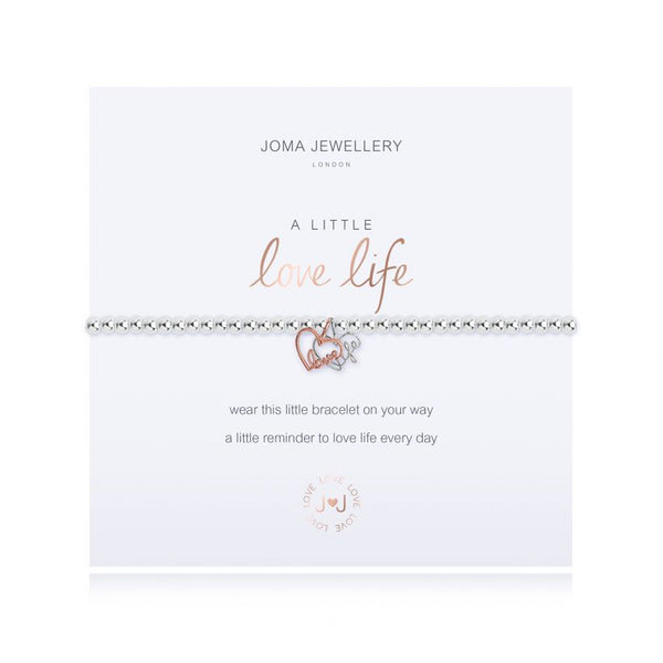 Joma Jewellery A Little Love Life Silver & Rose Gold-plated Bracelet 3207