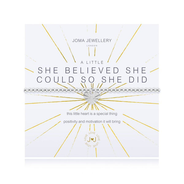 Joma Jewellery A Little She Believed She Could So She Did Bracelet 3097