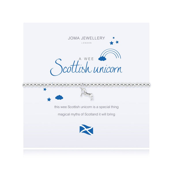 Joma Jewellery A Wee Scottish Unicorn Bracelet 2552