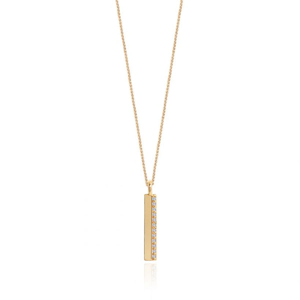 Joma Jewellery Alexis Gold-plated Bar Necklace 3298 detail