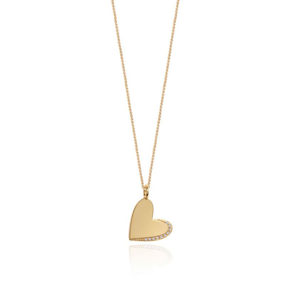 Joma Jewellery Alexis Heart Necklace Gold-plated 3297 detail