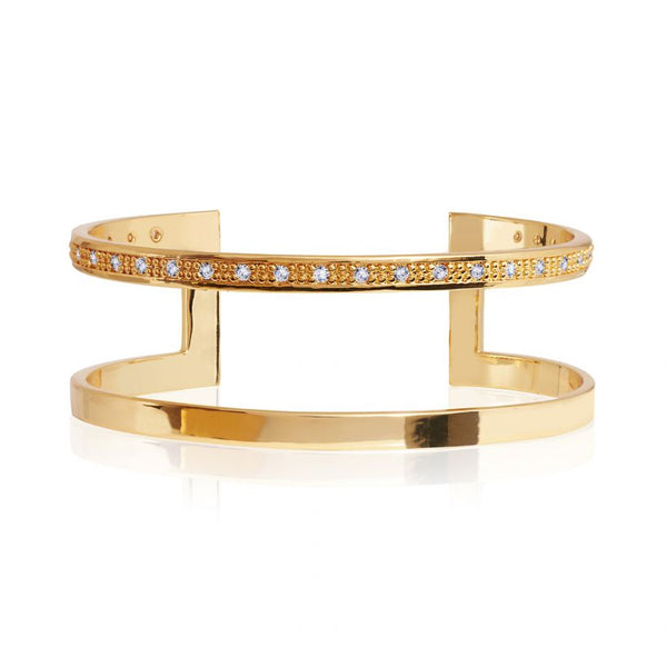 Joma Jewellery Aztek Double Bar Golden Bangle 3315