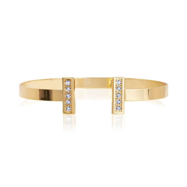 Joma Jewellery Aztek Golden Bar Bangle 3314