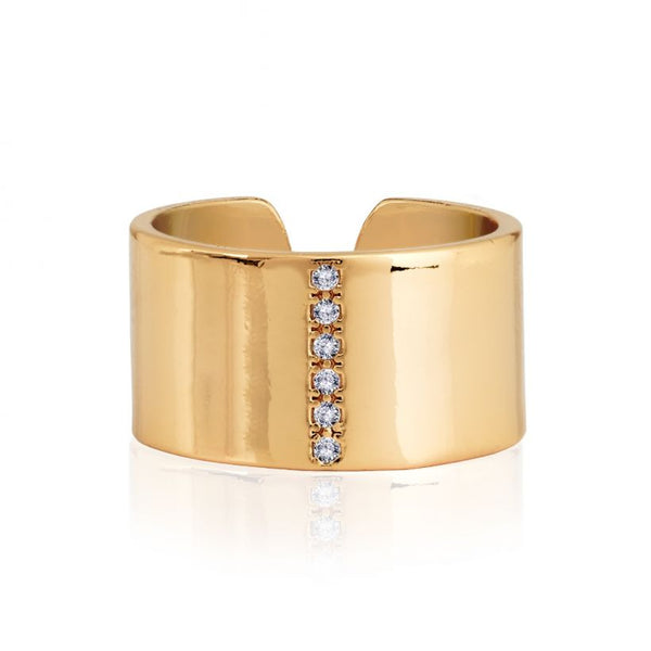 Joma Jewellery Aztek Golden Cuff Ring 3317