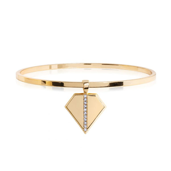 Joma Jewellery Aztek Kite Golden Bangle 3309