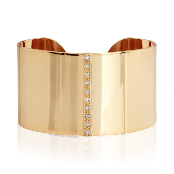 Joma Jewellery Aztek Wide Golden Bangle 3313