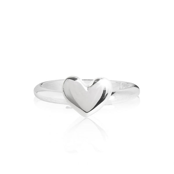 Joma Jewellery Lila Heart Ring silver finish 3275