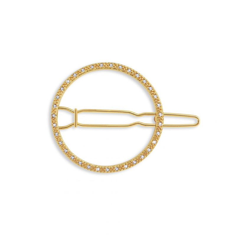 Joma Jewellery Pave Circle Hair Clip Gold 3334