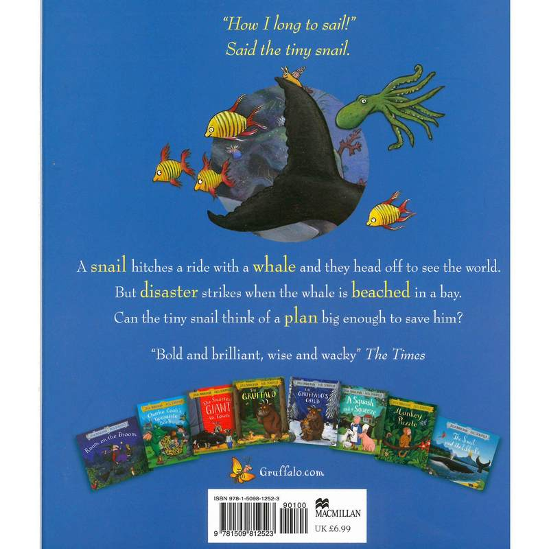Julia Donaldson - The Snail & The Whale back cover