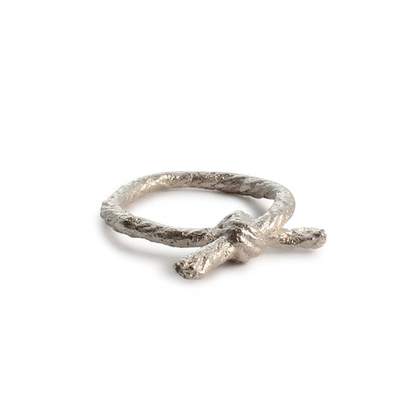 Knotted String Sterling Silver Ring