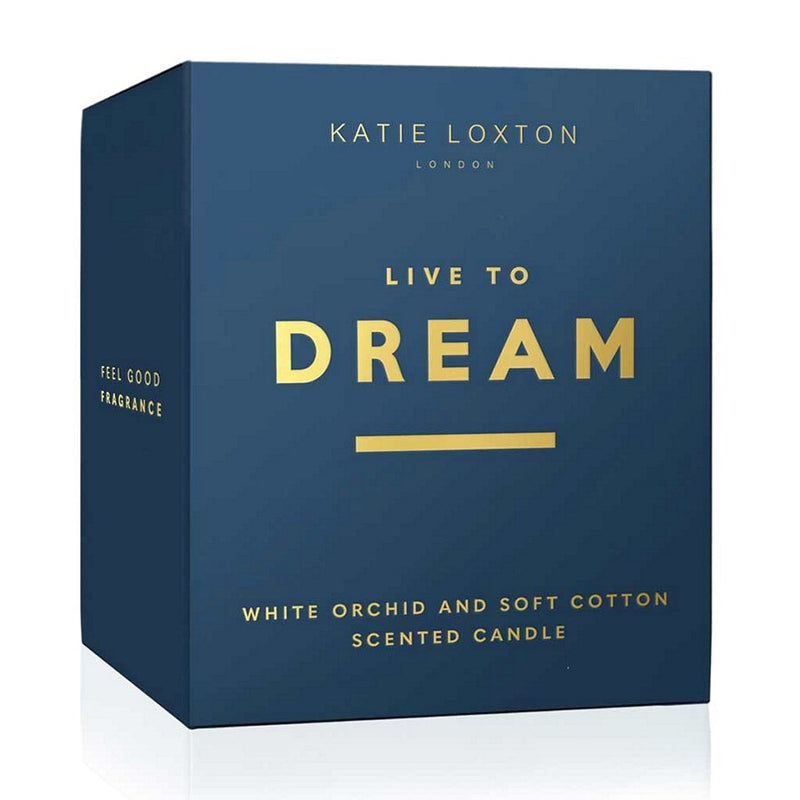 Katie Loxton Sentiment Scented Candle Live To Dream KLC162 boxed