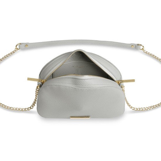 Katie Loxton Half Moon Cross-body Bag - White KLB407 open