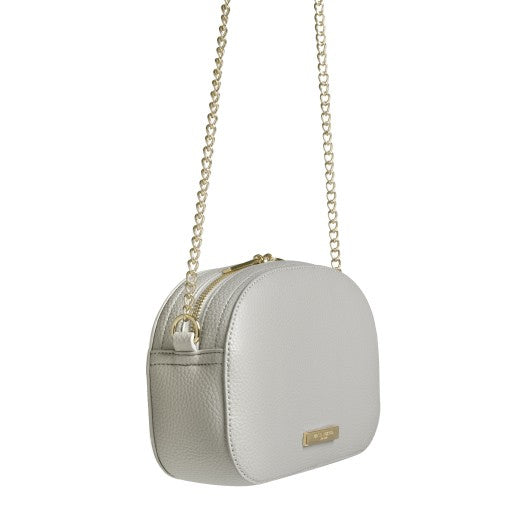 Katie Loxton Half Moon Cross-body Bag - White KLB407 side