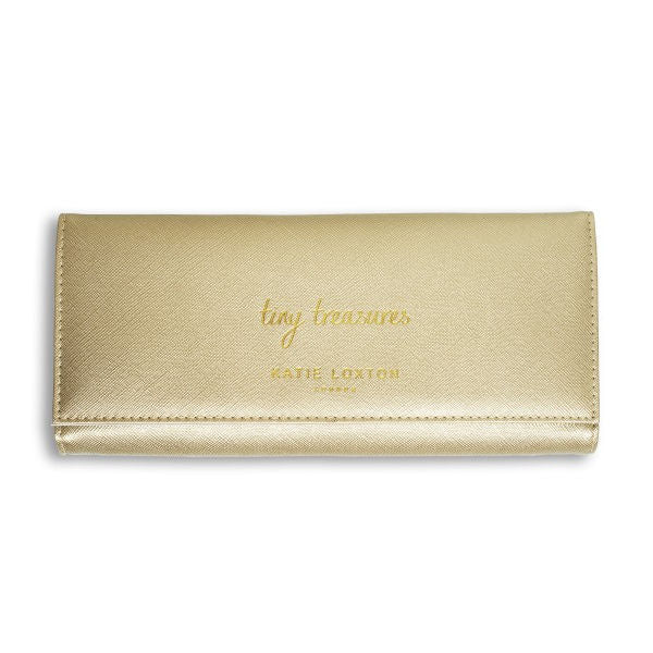 Katie Loxton Jewellery Roll Metallic Gold Tiny Treasures front