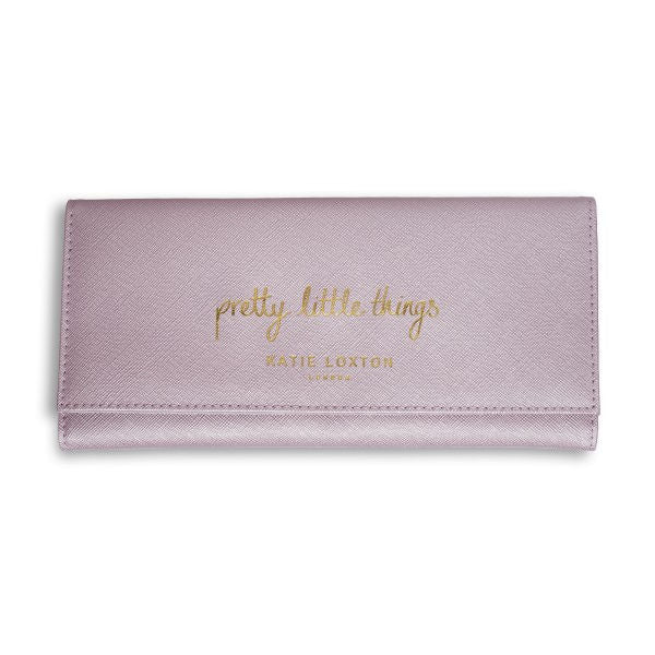 Katie Loxton Jewellery Roll Metallic Pink Pretty Little Things front