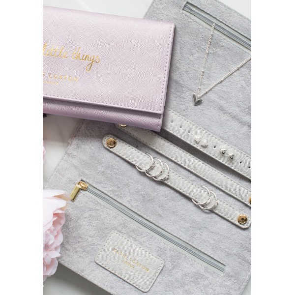 Katie Loxton Jewellery Roll Metallic Pink Pretty Little Things inside