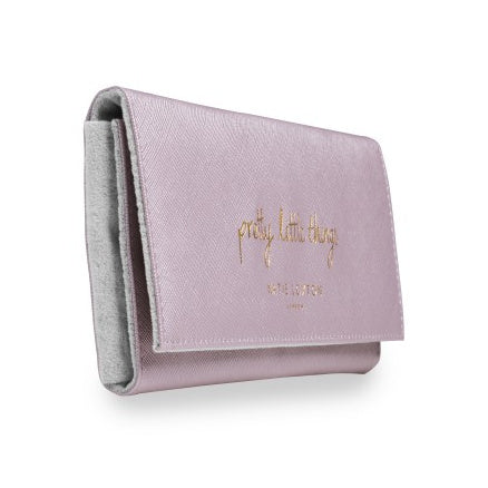 Katie Loxton Jewellery Roll Metallic Pink Pretty Little Things side