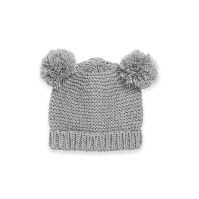 Katie Loxton Knitted Baby Bear Hat Grey