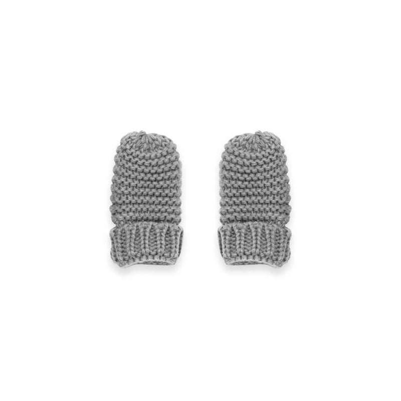 Katie Loxton Knitted Baby Mittens Grey