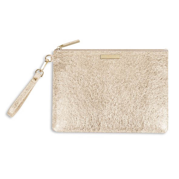 Katie Loxton Krush Klutch Metallic Gold front