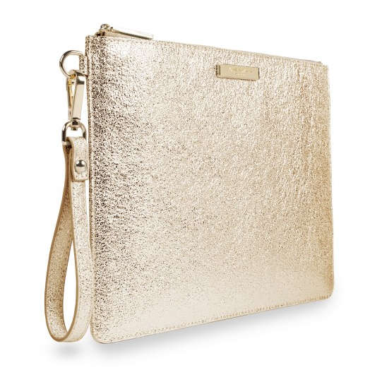 Katie Loxton Krush Klutch Metallic Gold side
