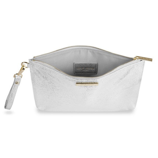 Katie Loxton Krush Klutch Metallic Silver open