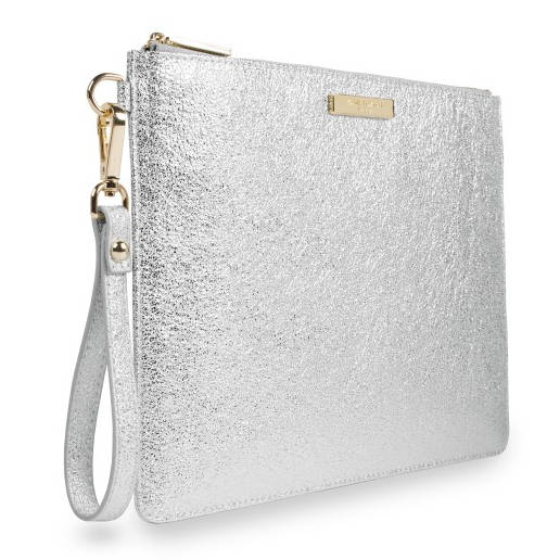 Katie Loxton Krush Klutch Metallic Silver side
