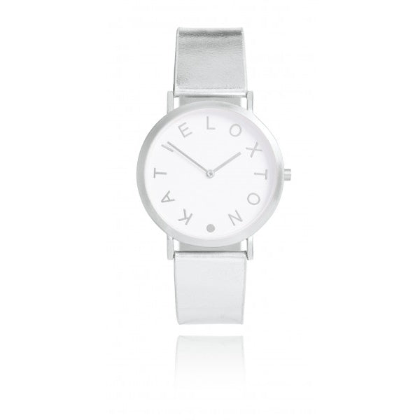 Katie Loxton Luna Watch Silver KLW008 front