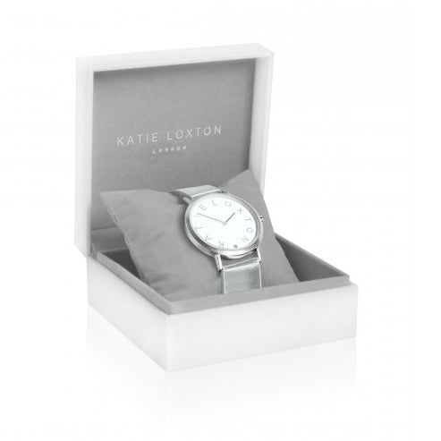 Katie Loxton Luna Watch Silver KLW008 in box