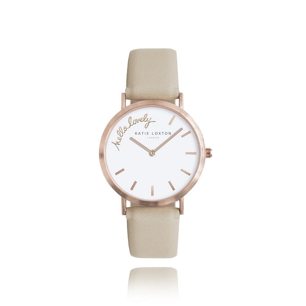 Katie Loxton Magical Moments Watch - Hello Lovely Rose Gold Plated KLW012